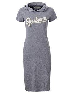 0e54a3810d Glostory Women s Casual Sweatshirt Dress Hoodie Pockets t-shirt Sundress  1800 at Amazon Women s Clothing store
