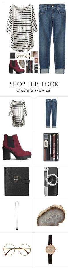 """Could have done more...."" by blue999000 ❤ liked on Polyvore featuring 7 For All Mankind, H&M, Smythson, Casetify, Lagos, Passport, Mitchell Gold + Bob Williams, Retrò, Barbour and Nila Anthony"