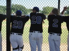 Baseball Players in dugout.... How cute would this be... Each year... Watch them grow?!?