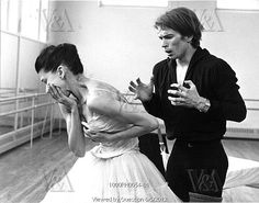 Rudolf Nureyev (1938-93) and Margot Fonteyn (1919-91) in the title roles of Marguerite and Armand, photo Anthony Crickmay (b.1937). Choreography by Frederick Ashton (1904-88). Black and white photography. London, England, 1963.