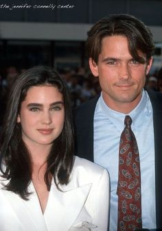 Jennifer Connelly and Billy Campbell - they're soooo young here! Hollywood Couples, Celebrity Couples, Hollywood Stars, Classic Hollywood, Paul Bettany, Jennifer Connelly Young, Billy Campbell, Requiem For A Dream, Crime Film