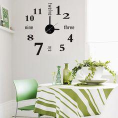 Modern Home Self Adhesive DIY 3D Linus Wall Clock
