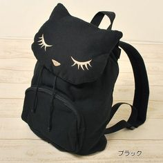 from Japan cat poohcah Backpack Schoolbag kawaii harajuku girl BLACK THIS IS ADORABLE