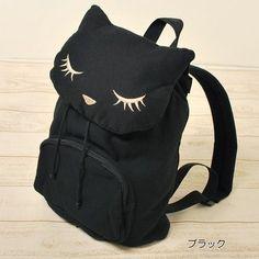Cat Poohcah Backpack Schoolbag Kawaii Harajuku Girl Black | eBay
