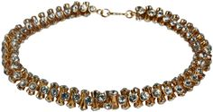 KENNETH JAY LANE-CZ STATION ROUND LINK NECKLACE-SILVER, GOLD, OR PEARL-6479
