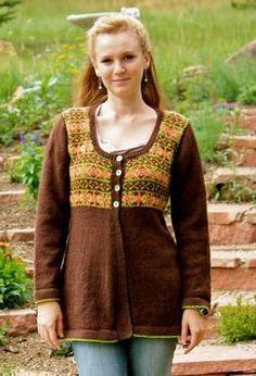 Ravelry: Fair Isle Jacket pattern by Patrice Kampf Knitting Paterns, Crochet Patterns, Knitting Projects, Crochet Projects, Cool Sweaters, Knit Sweaters, Cardigans, Fair Isle Pattern, Fair Isle Knitting