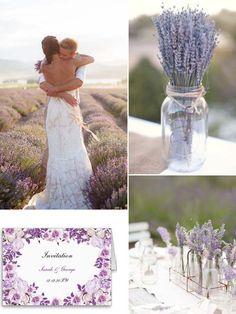 elegant lila Lavendel Hochzeitsfotograf Einladungskarten Peach Tischdeko DIY 2014 Romantische Pastellfarben Hochzeit Inspiration