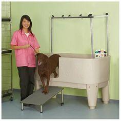 PolyPro Dog Grooming Tub - Finish: Blue