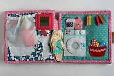 Dollhouse for Lizuca. Handmade fabric/felt dollhouse quiet book for girls