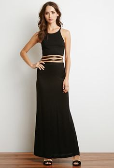 Strappy Halter Top and Skirt Set