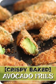 Appetizer Recipes Discover Crispy Baked Avocado Fries Avocado fries are the appetizer you never you knew you needed! Here Ill show you exactly how to get crispy baked avocado fries which are bursting with flavour! Baked Avocado Fries, Avocado Toast, Avocado Bread, Avocado Egg Rolls, Clean Eating Snacks, Healthy Snacks, Healthy Avocado Recipes, Healthy Baking Recipes Uk, Healthy Cooking Recipes