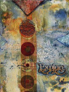 "Contemporary Artists of New Mexico: Mixed Media Abstract Painting ""EXPLORE"" by Santa Fe Contemporary Artist Sandra Duran Wilson"