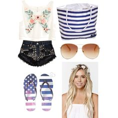 Summer. by lunastyleandfashion on Polyvore featuring H&M, Runwaydreamz, Aéropostale, With Love From CA and Tommy Hilfiger