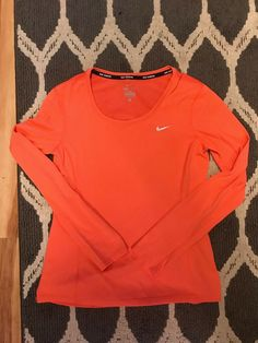 5d1360210c7 Nike Womens Sz Small DRI-FIT Long Sleeve Running Shirt  fashion  clothing   shoes  accessories  womensclothing  activewear (ebay link)
