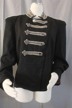Trelise Cooper Sz 16 Rock Roller Jacket Heavily Sequined Military Inspired | eBay