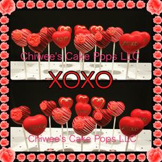 Xoxo cake pops