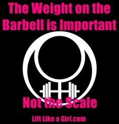 Great article! Worry about the weight you are lifting going up, not a number on the scale!