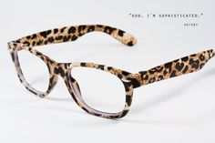 leopard glasses.