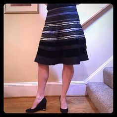 The Limited Textured Skirt size 4 Beautiful detailing on this skirt. Size 4. The Limited Skirts