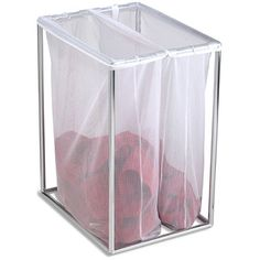 Chrome Double Laundry Bag Stand With Images Container Store
