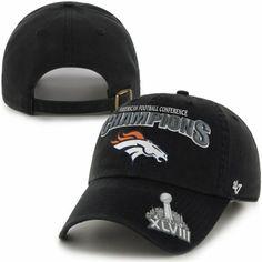 954306fee  47 Brand Denver Broncos 2013 AFC Champions Trophy Cleanup Adjustable Hat -  Black Broncos Hat