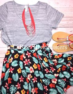 LuLaRoe Madison Skirt and LuLaRoe Classic T are a fantastic combo!The Madison can be worn high or low on your waist to give you the most flattering look for your body! It has an elastic waist, pleated skirt and POCKETS! #Lularoe #womensfashion #womensclothes #lubbocktx Join our Facebook group to shop this outfit and many more! ---> https://www.facebook.com/groups/lularoetaylorsisters/