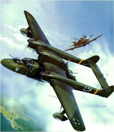 A Bv 138 being attacked by a Russian P-39.