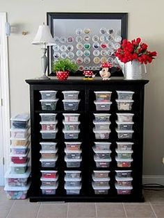 Sewing area organizational tips from Sew Many Ways via Pickup Some Creativity.