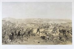 'Battle of the Tchernaya'', by William Simpson, 1854 (lithograph). William Simpson (1823-99) was a Scottish painter who became noted for his depictions of the Crimean War (1853-6)
