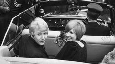 Cilla Black, right, and Bobby Willis after their wedding in 1969
