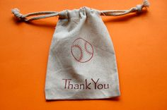 Baseball Muslin Bags / Set of 10 / Party Favor Bags by asouthernflair on Etsy https://www.etsy.com/listing/105954540/baseball-muslin-bags-set-of-10-party