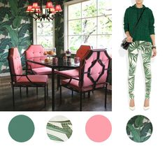 LOVE the pink chairs and pagoda chandelier.  Style Spotting | Chic in Martinique