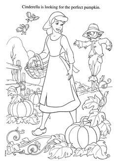 Cinderella Disney Coloring Pages Photo