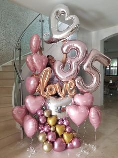 Hello are Genesis and Artistic Productions Iravid Nieves CBA Hacemos with globos Ordena Balloon Bouquets and decorations and surprises Miami Celebration Balloons, Birthday Celebration, Birthday Parties, Birthday Goals, 35th Birthday, Birthday Ideas, Birthday Balloon Decorations, Birthday Balloons, Balloon Bouquet