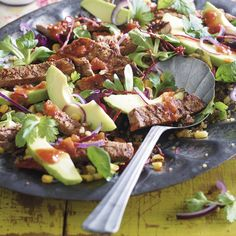 MEXICAN BEEF FAJITA SALAD, a delicious recipe from the new M&S app.