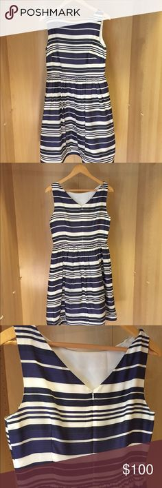 Lilly Pulitzer Dress Navy and white striped Lilly Pulitzer dress; worn once; perfect party dress! Lilly Pulitzer Dresses Midi