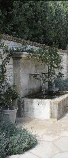 Backyard Water Fountains, Outdoor Wall Fountains, Garden Water Fountains, Diy Fountain, Outdoor Walls, Backyard Waterfalls, Garden Ponds, Backyard Ponds, Koi Ponds