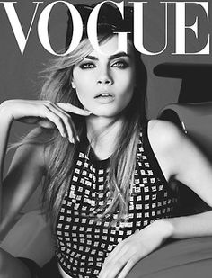 Cara Delevigne for Vogue. My favorite model at the moment.