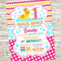 Hey, I found this really awesome Etsy listing at https://www.etsy.com/au/listing/286999297/rubber-duck-duckie-birthday-duck