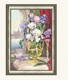 Still life with cornflowers Counted Cross Stitch Kit GOLDEN FLEECE