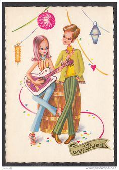 Illustrators & photographers - 20214/ D. FRACASSI, Jeune couple avec une guitare, Ed GP La Rose n° 411
