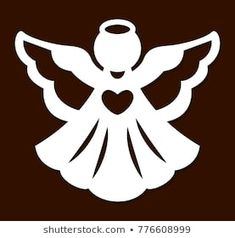 X-mas angel for wood carving, paper cutting and christmas decorations. Christmas Angel Decorations, Christmas Yard Art, Xmas Ornaments, Christmas Angels, Christmas Crafts, Merry Christmas, Paper Cutting, Diy Holiday Cards, Paper Flower Decor