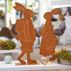 Deko-Figuren Set Hasen Rost, 2 tlg. Franz & Fränzi    mehr Osterdeko bei www.schneider.de