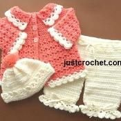 FJC04-Coat Set baby crochet pattern