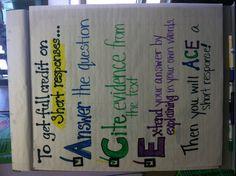 Helpful in teaching short response 5th Grade Ela, 2nd Grade Writing, 5th Grade Reading, Kindergarten Reading, Preschool Learning, Grade 3, Teaching Writing, Teaching Strategies, Student Teaching