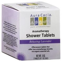 Shower Tablets Relaxing Lavender 3 Packets by Aura Cacia. $6.74. Serving Size:. 3 Packets. Effervescent shower tablets that offer true aromatherapy benefits via organic essential oils.