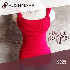 Bailey 44 top Be the hottest lady at the party in this curve hugging red top, gorgeous! Bundle for discount Anthropologie Tops