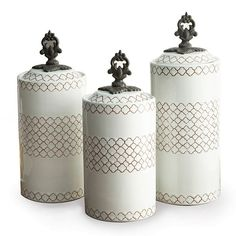 American Atelier 3-pc. Canister Set, White