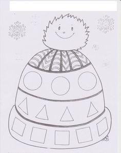 yeni-yil-okuma-yazmaya-hazirlik-31 Winter Crafts For Toddlers, Winter Kids, Winter Art, Winter Activities, Toddler Crafts, Winter Christmas, Preschool Activities, Christmas Crafts, Snow Theme