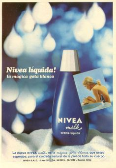 1970: Eine neueKampagne für dasLeader-Produkt. | 1970: Une nouvelle campagne pour le produit leader de la marque. #nivea #history